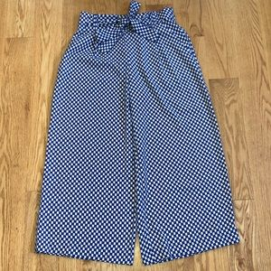 Zara hexagon print wide leg pants